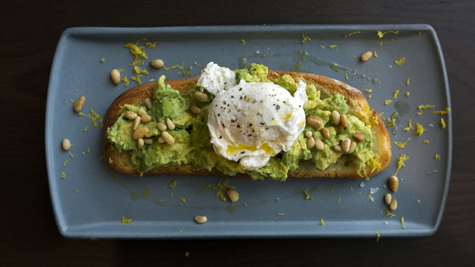 Avocado Bruschetta with Poached Egg